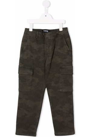 Dondup Boys Cargo Pants - Camouflage-print cargo trousers