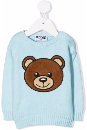 Moschino Baby Jumpers - Teddy embroidery jumper