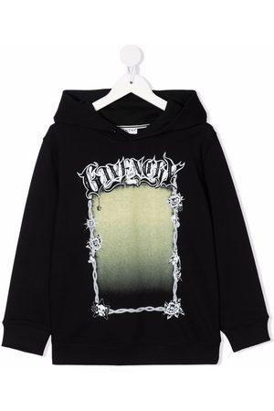 Givenchy Boys Hoodies - Logo-print hoodie