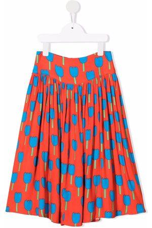 Stella McCartney Girls Printed Skirts - Floral-print pleated skirt