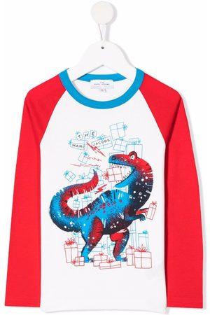 The Marc Jacobs Boys Long Sleeve - Dinosaur-print long-sleeve jersey top
