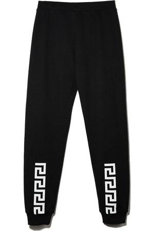 VERSACE Boys Pants - Greca-print cotton track pants