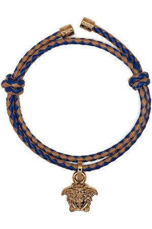 VERSACE Women Bracelets - Medusa head charm braided bracelet