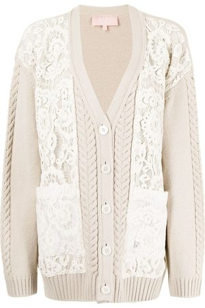 BAPY Women Cardigans - Lace-patterned knitted cardigan