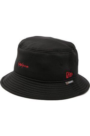 YOHJI YAMAMOTO Men Hats - Logo-embroidered bucket hat