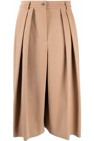 Alberta Ferretti High rise pleated culottes