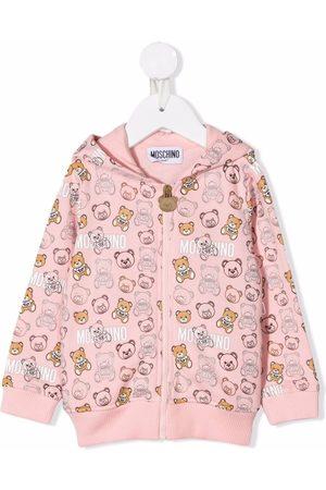 Moschino Baby Hoodies - Teddy Bear print zip-up hoodie