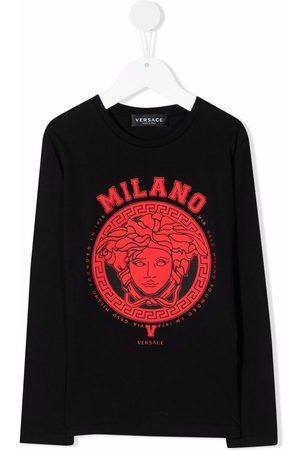 VERSACE Boys Sweatshirts - Medusa-print crew neck sweatshirt