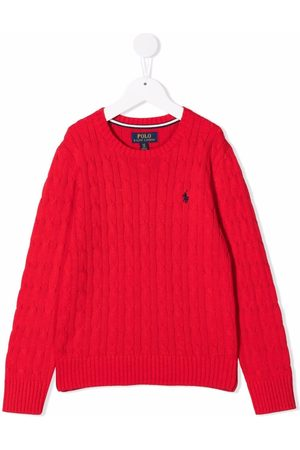 Ralph Lauren Boys Jumpers - Cable-knit round neck jumper