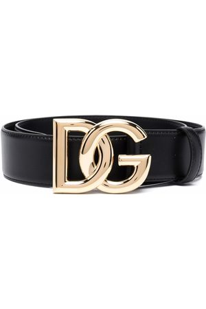 Dolce & Gabbana Women Belts - Logo-plaque leather belt