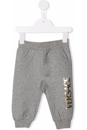 VERSACE Baby Pants - Logo-print track pants