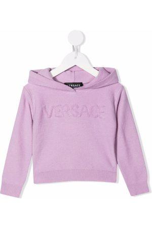VERSACE Baby Hoodies - Logo embroidered hoodie