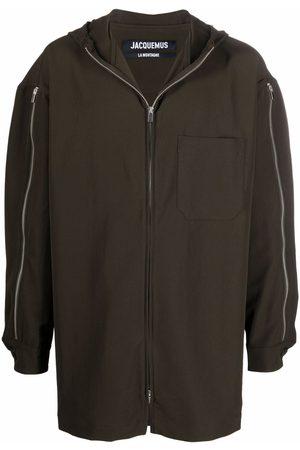Jacquemus Men Parkas - Zip-sleeve coat