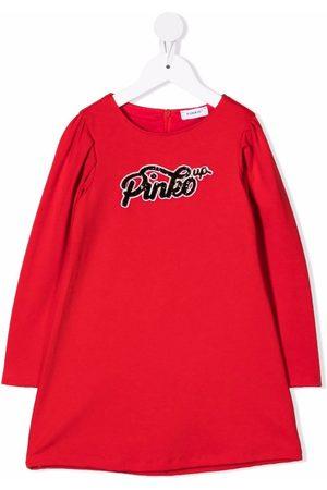 Pinko Kids Girls Casual Dresses - Logo long-sleeve dress