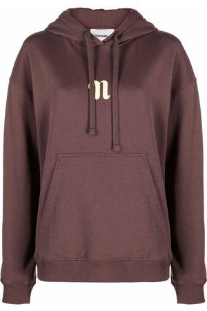 Nanushka Women Long Sleeve - Logo-print long-sleeved hoodie