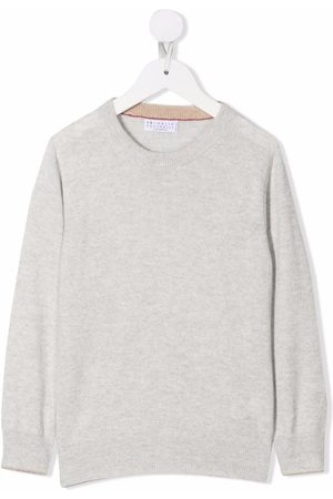 Brunello Cucinelli Boys Tops - Crew neck knitted top