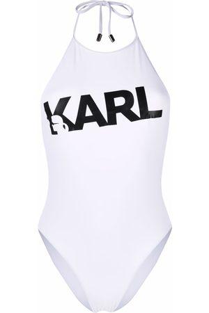 Karl Lagerfeld Women Swimsuits - Logo print swimsuit