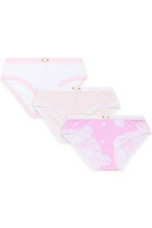 Esme Little Girl's & Girl's 3-Pack Smiley Panty Pack