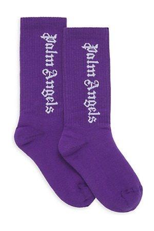 Palm Angels Kid's Classic Logo Socks