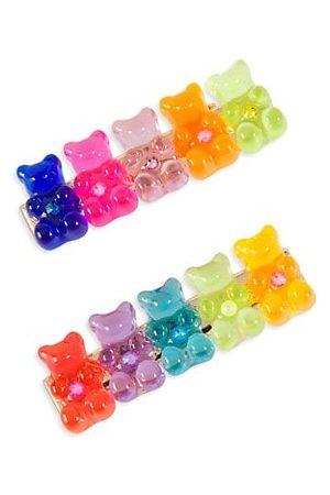 Bari Lynn Girl's Gummy Bear Hair Clip Set