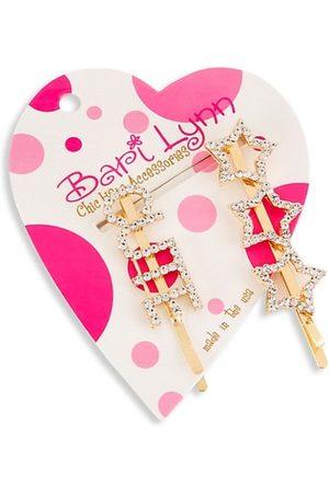 Bari Lynn Girls Hair Accessories - Girl's 2-Pack Star and Cute Hairclips