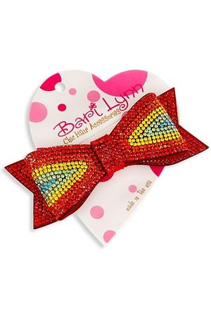 Bari Lynn Girl's Rainbow Crystal-Embellished Double Bow
