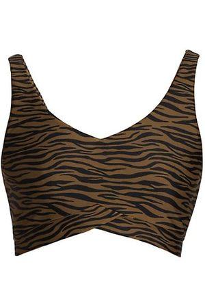 The Upside Women Tank Tops - Malibu Tiger Print Crop Top