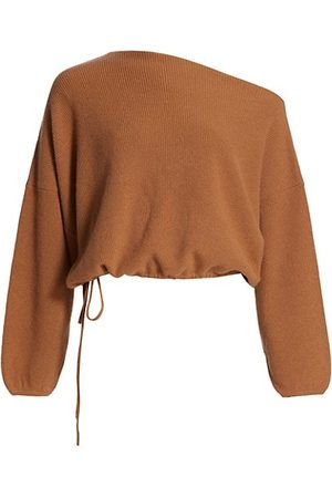 The Sei Off-The-Shoulder Drawstring Sweater
