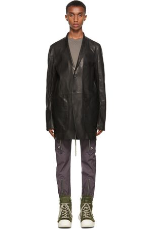 Men Leather Jackets - Rick Owens Leather Lido Jacket