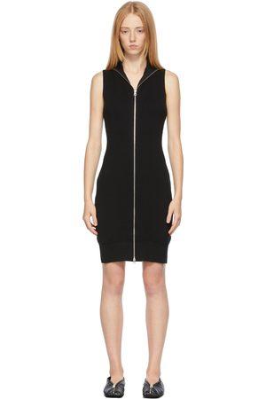 Women Knitted Dresses - MM6 Maison Margiela Knit Zip-Up Dress