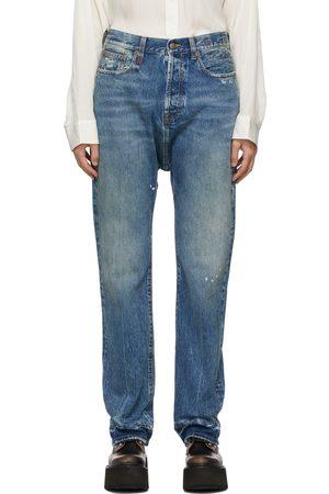 Women Jeans - R13 Blue Izzy Drop Jeans