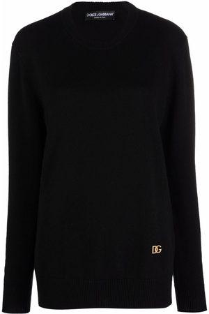 Dolce & Gabbana Women Jumpers - Logo-plaque cashmere-knit jumper