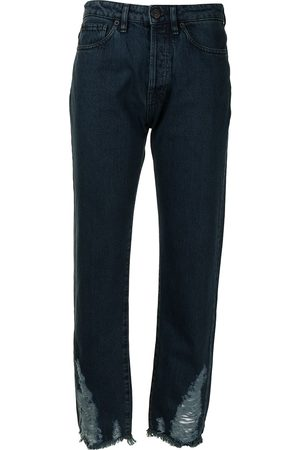 3x1 Women Boyfriend - Higher Ground Destroyed-Hem Boyfriend jeans