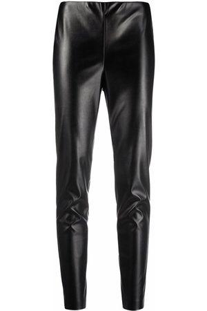 Ermanno Ermanno Women Leggings - Leather effect leggings