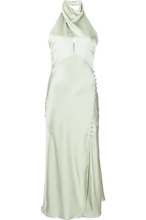 Nicholas Halterneck silk midi dress