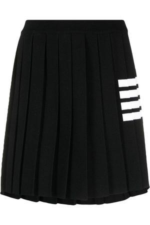 Thom Browne Women Pleated Skirts - 4-Bar stripe knitted skirt