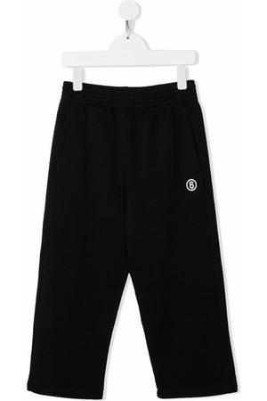 MM6 KIDS Logo-print cotton track trousers