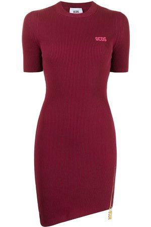 GCDS Women Asymmetrical Dresses - Short-sleeve asymmetric T-shirt dress