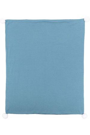 LITTLE BEAR Pom-pom trim baby blanket