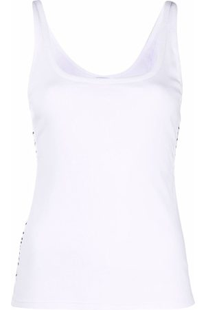 La Perla Logo-trim U-neck vest top
