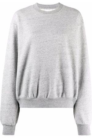 Acne Studios Melange-effect drop-shoulder sweatshirt