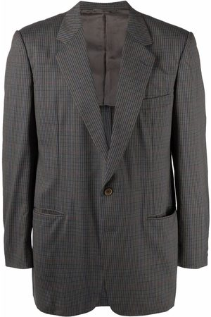 Burberry Men Blazers - 1990s plaid check single-breasted blazer