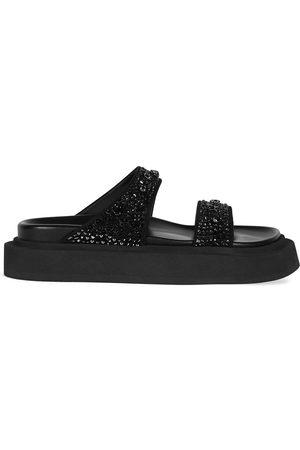 Giuseppe Zanotti Jolanda crystal-embellished flat sandals