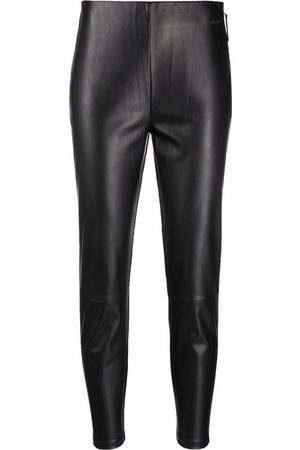 Calvin Klein Women Leggings - Cropped faux-leather leggings