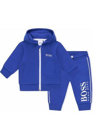 HUGO BOSS Boys Sports Sweatshirts - Logo-print hoodie tracksuit