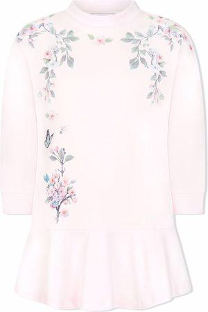 MONNALISA Girls Casual Dresses - Floral-print sweat dress