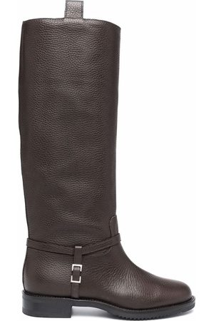 Sergio Rossi Knee-length grained leather boots
