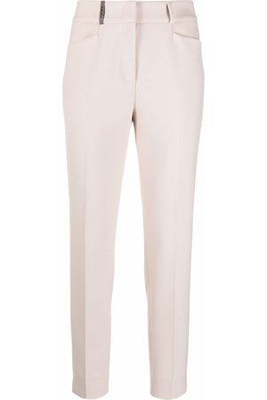 PESERICO SIGN Women Skinny Pants - Pressed crease slim-fit trousers