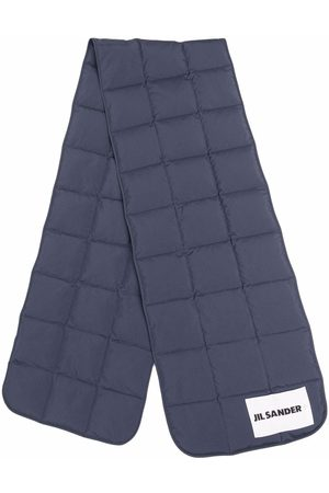 Jil Sander Women Scarves - Logo-patch padded down scarf