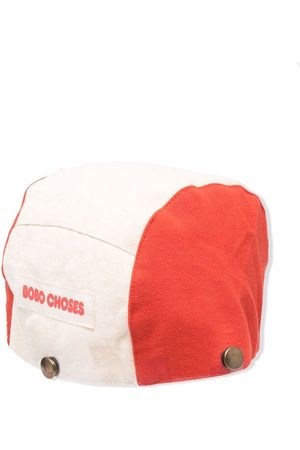 Bobo Choses Girls Hats - Face-embroidered cotton hat